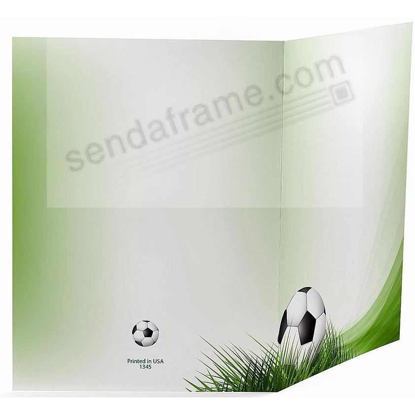 SOCCER FIELD Cardboard Photo Folder for 4x6 prints - Picture Frames ...