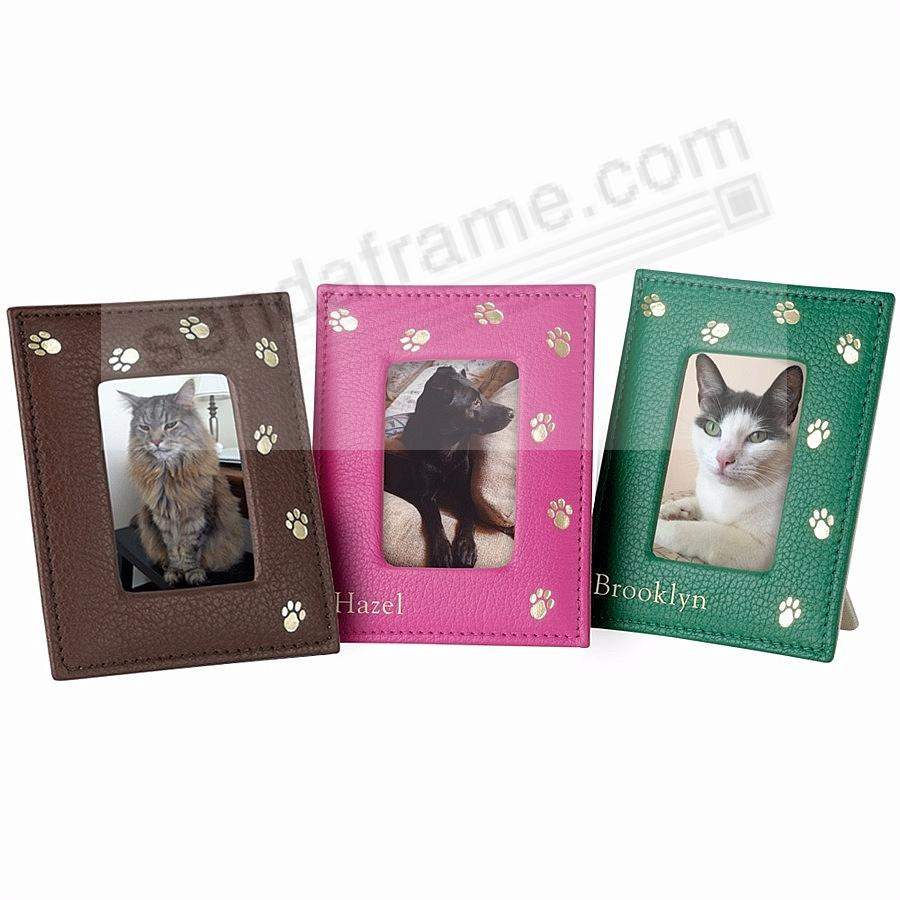 Red fine leather pet frame by graphic image picture frames personalized samples jeuxipadfo Image collections