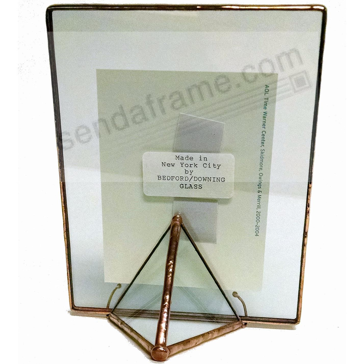 COPPER + CLEAR GLASS Float Frame 5½x7/4x6 by Bedford Downing ...