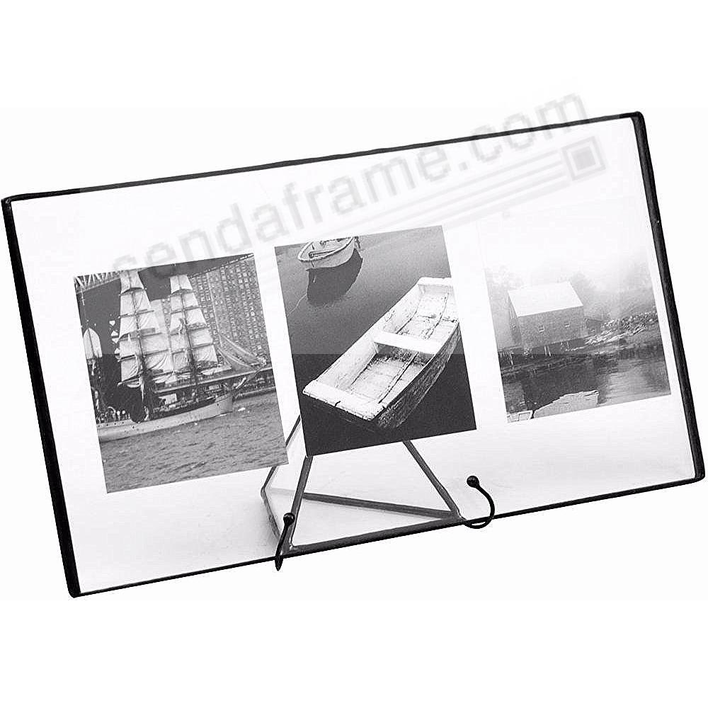 Clear Glass Float Frame 11x5½ / 10x4 Black by Bedford Downing ...