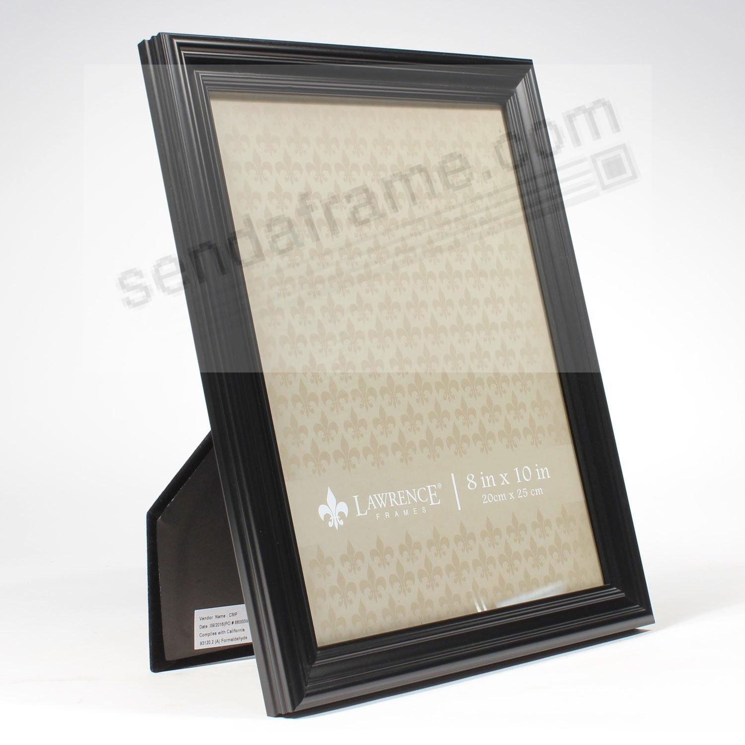 Classic black ridged 8x10 frame by lawrence frames for Engraved digital photo frame