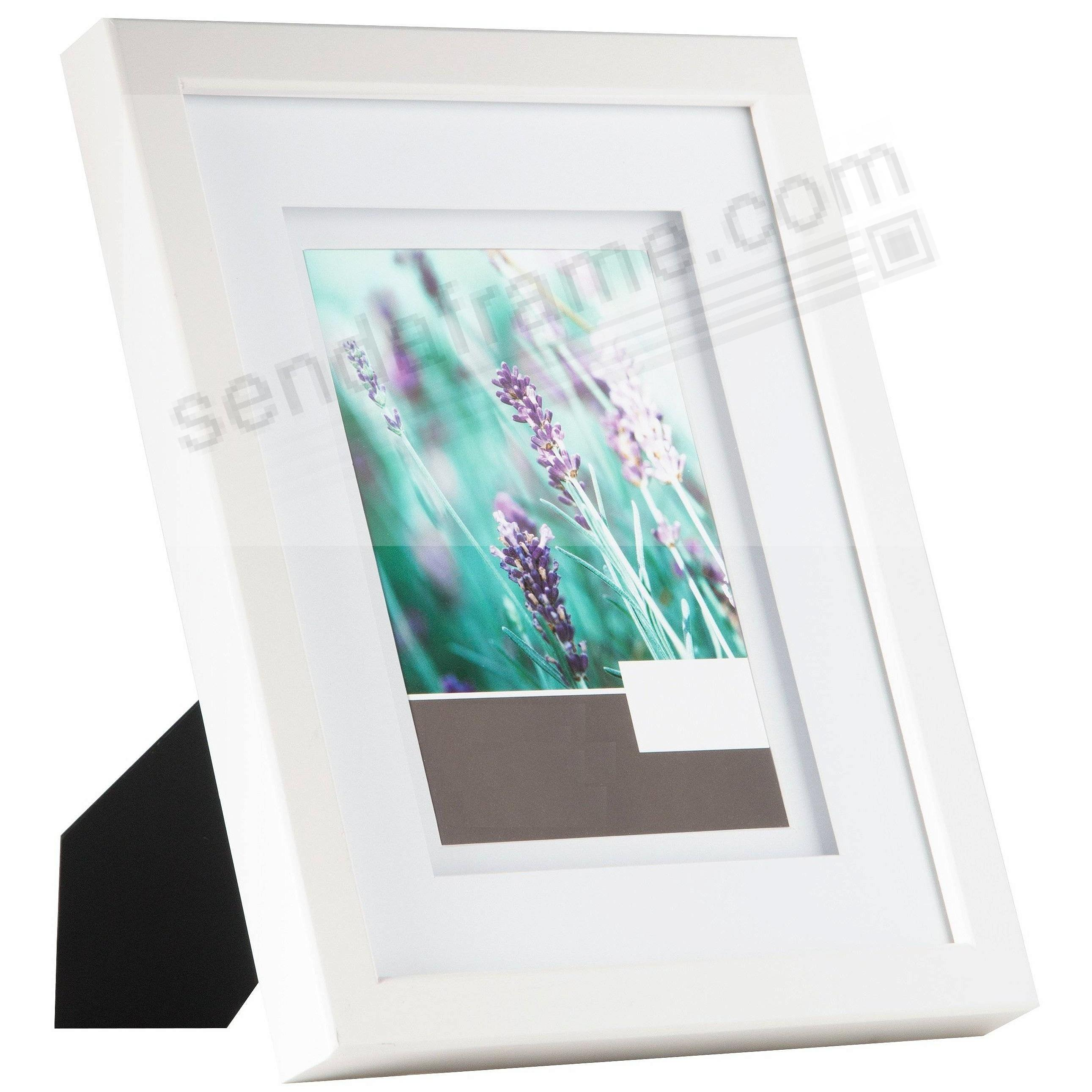 White Wall 11x14/8x10 Frame w/AirFloat White Mat by Gallery ...