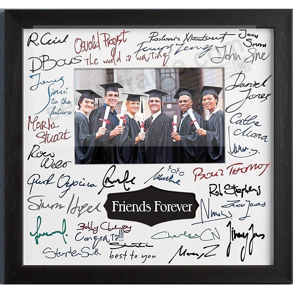 Graduation Autograph Frame in Black Finish with Interchangeable ...
