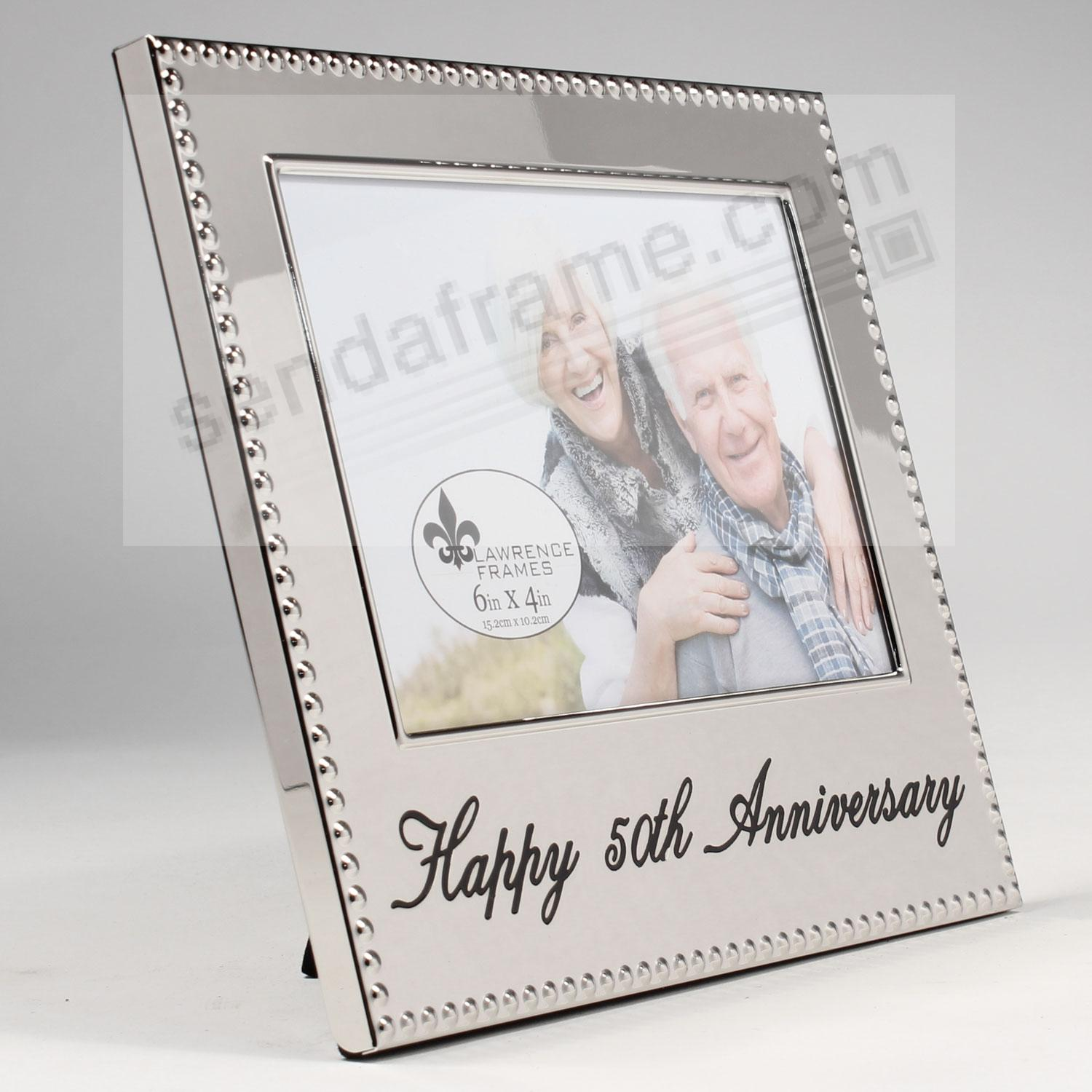happy 50th anniversary special engraved celebration frame picture