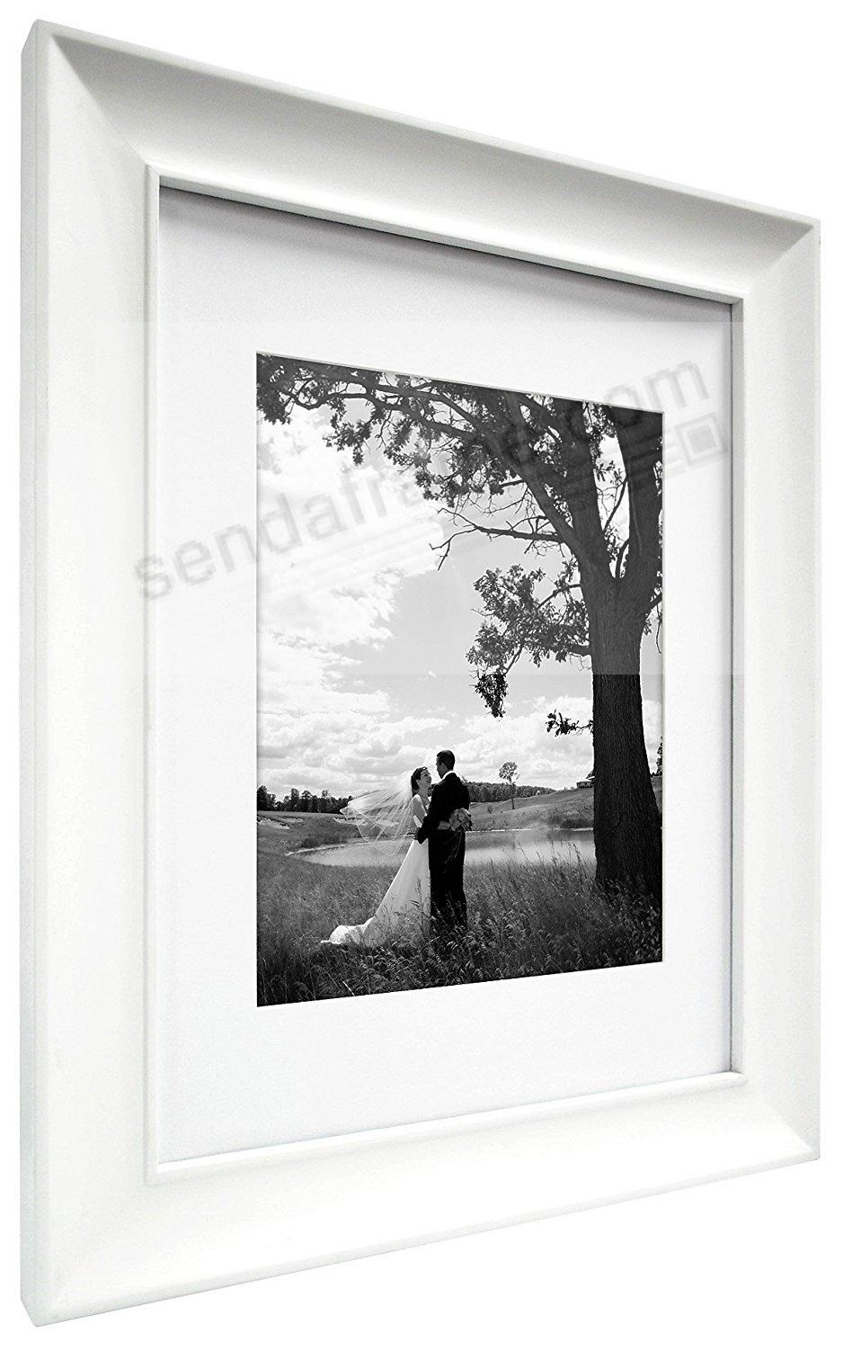 White ARCHIVAL Matted Wood frame 8x10/5x7 by MCS® - Picture Frames ...