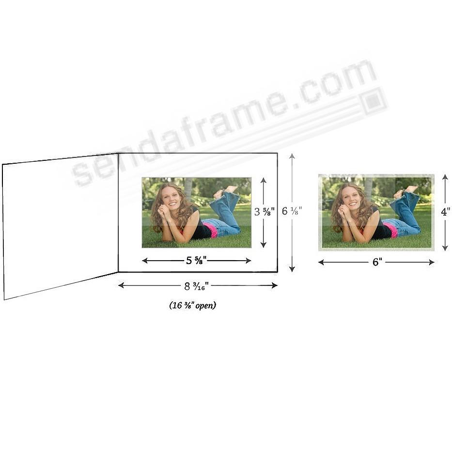 golfer white cardboard photo folder for 6x4 prints picture frames