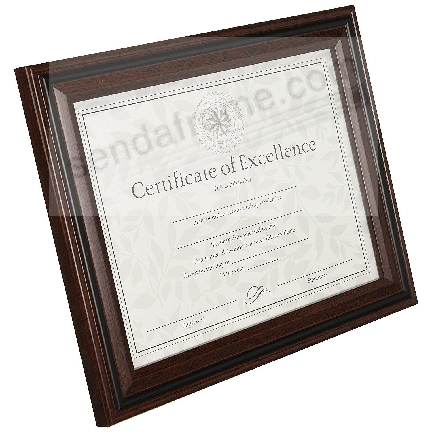 Rosewood/Black Certificate frame by DAX® - Picture Frames, Photo ...