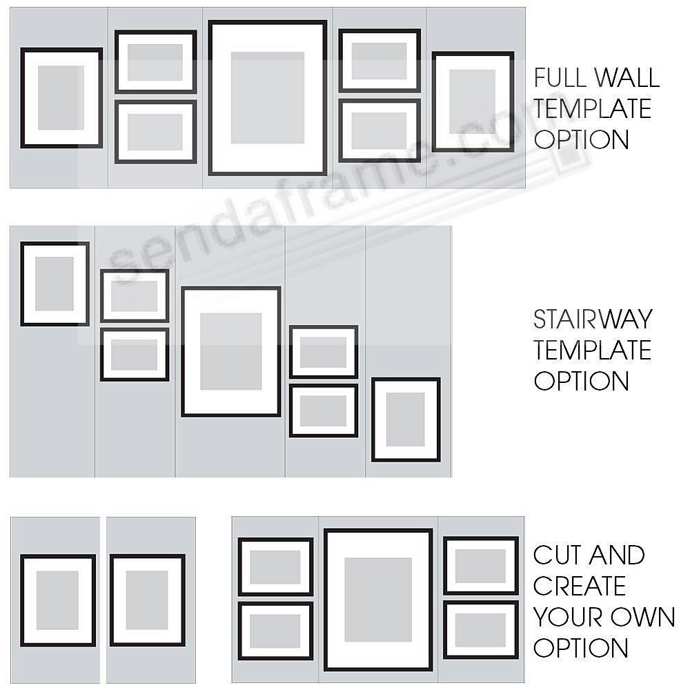 7-Piece White Wood Wall Frame Kit by Gallery Solutions™ - Picture ...