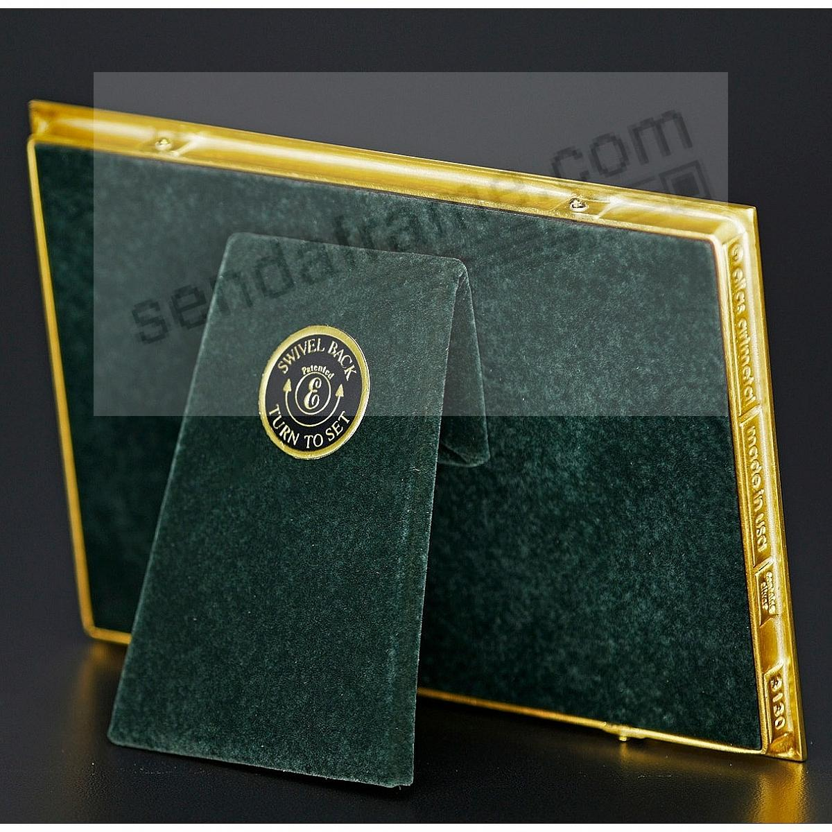 f65db419694 ZIPPER Fine 18kt Museum Gold over Pewter frame 4x6 3½x5½ by Elias Artmetal®  - Picture Frames