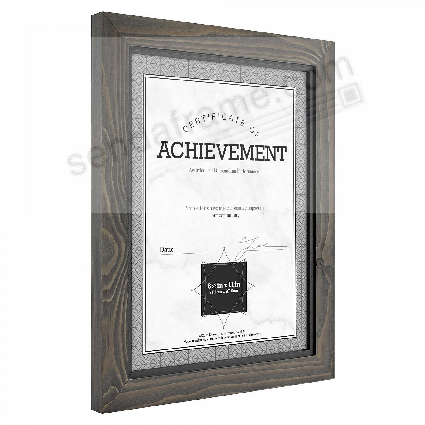 01ee3b6d112e TIMBER Distressed Gray Black Wood Frame by MCS® - Picture Frames ...