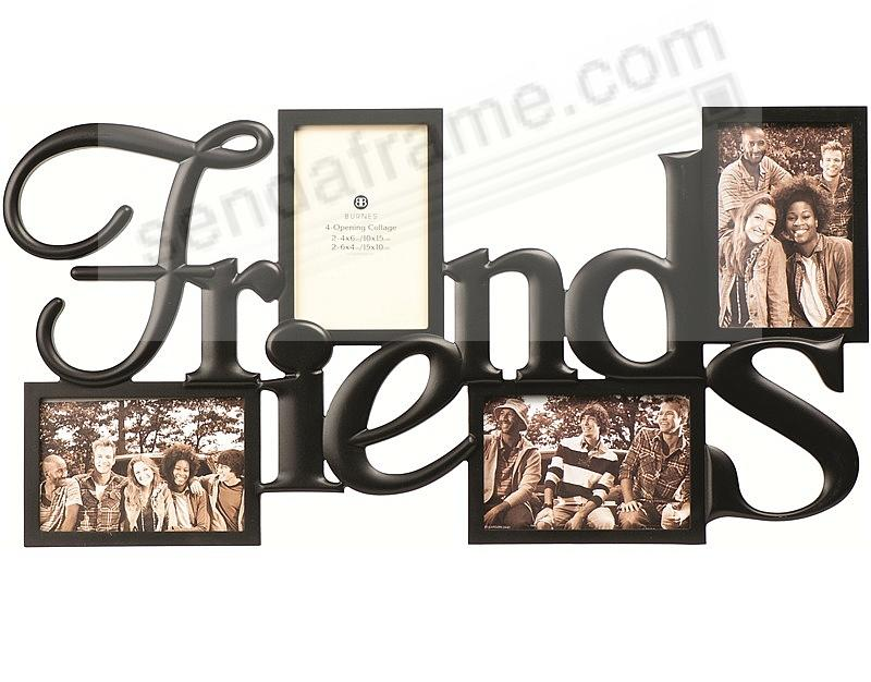 FRIENDS Words 4-opening collage frame in ABS moulded resin ...