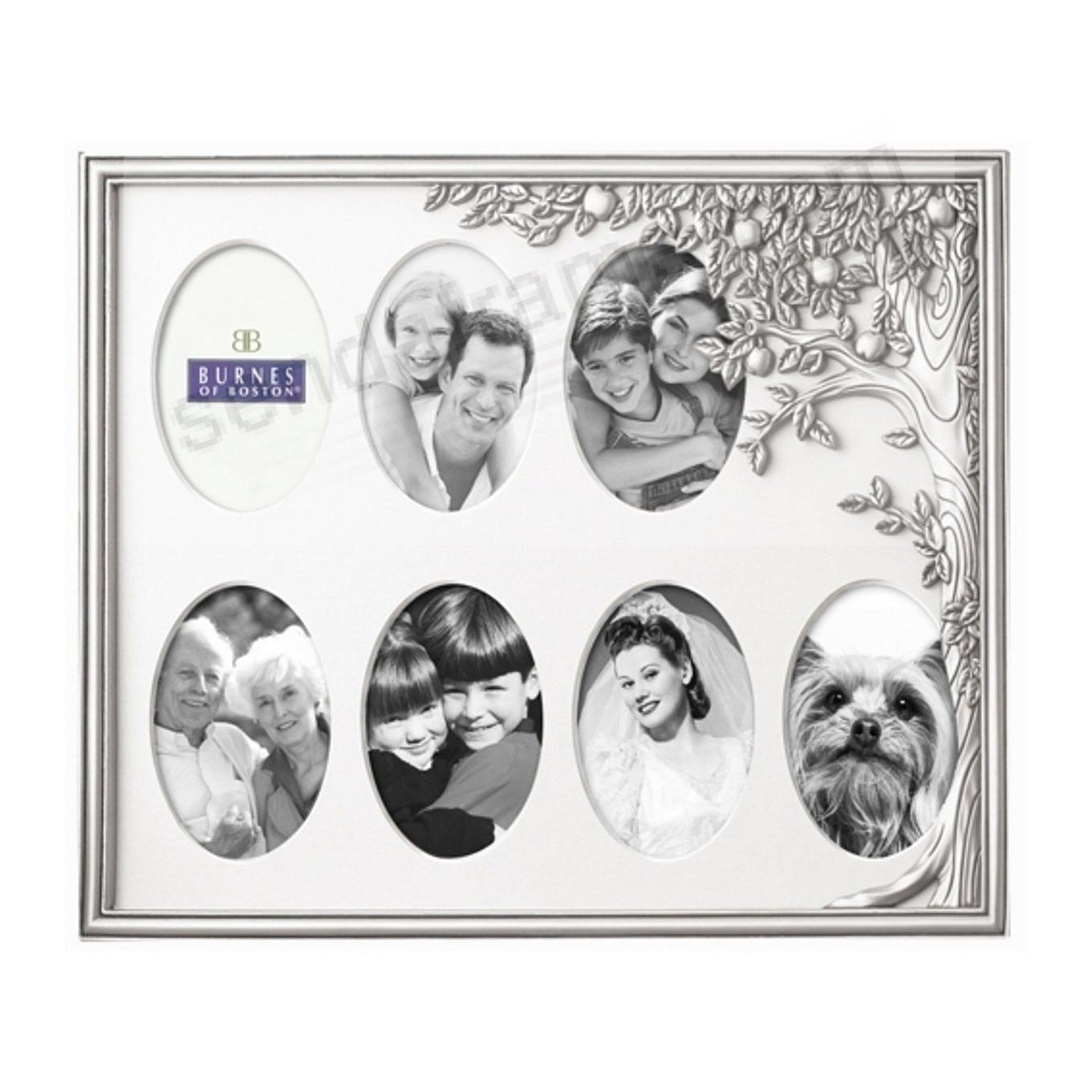 Pewter 7-opening Family Tree collage by Burnes - Picture Frames ...
