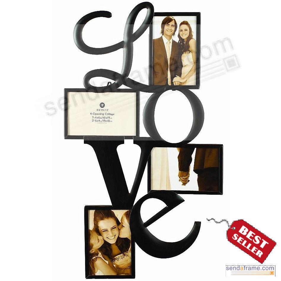 L-O-V-E WALL WORDS copper wire 4-opening collage by Burnes ...