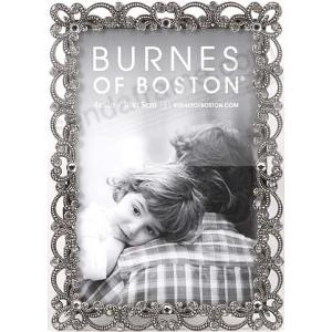Pewter Scallop Wjewels Frame By Burnes Of Boston Picture Frames