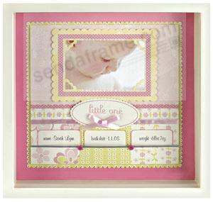 Lulu Scrapbook Shadow Box In Ivory By Anna Griffin