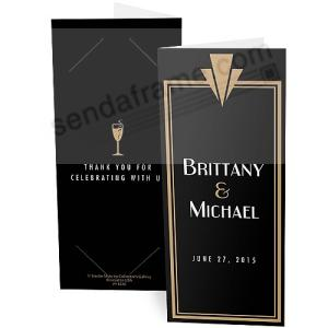 Gatsby Personalized Photo Strip Holders For 2x6 Photobooth Prints