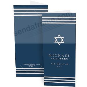 Star Of David Personalized Photo Strip Holders For 2x6 Photobooth