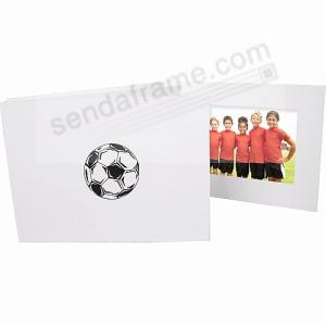 Soccerball Foilbron White Cardboard Photo Folder Picture Frames