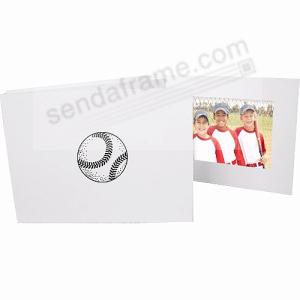 Baseball Black On White Cardboard Photo Folder 4x6 Frame Picture