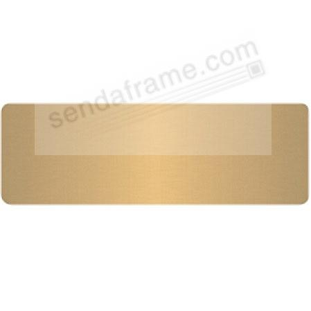 Engravable brass colored permanent-stick 3x1 name plate - Picture ...
