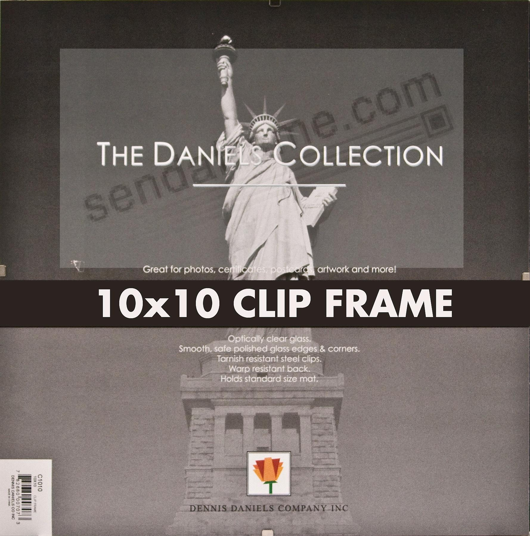 The FRAMELESS GLASS CLIP 10x10 frame by Dennis Daniels® - Picture ...