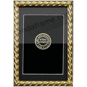 ac7587d4561 RIBBON 18kt Gold Over Fine Pewter 8x10 7x9 frame by Elias Artmetal®. Main  view
