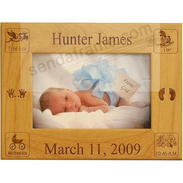 Baby Birth Record Personalized Laser Etched Keepsake Frame Picture