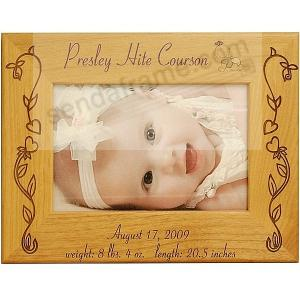 Special Baby Girl Birth Record Personalized Laser Etched Keepsake