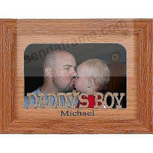 Daddys Boy Personalized With A Name Of Your Choice Picture Frames Photo Als And Engraved Digital Gifts Sendaframe