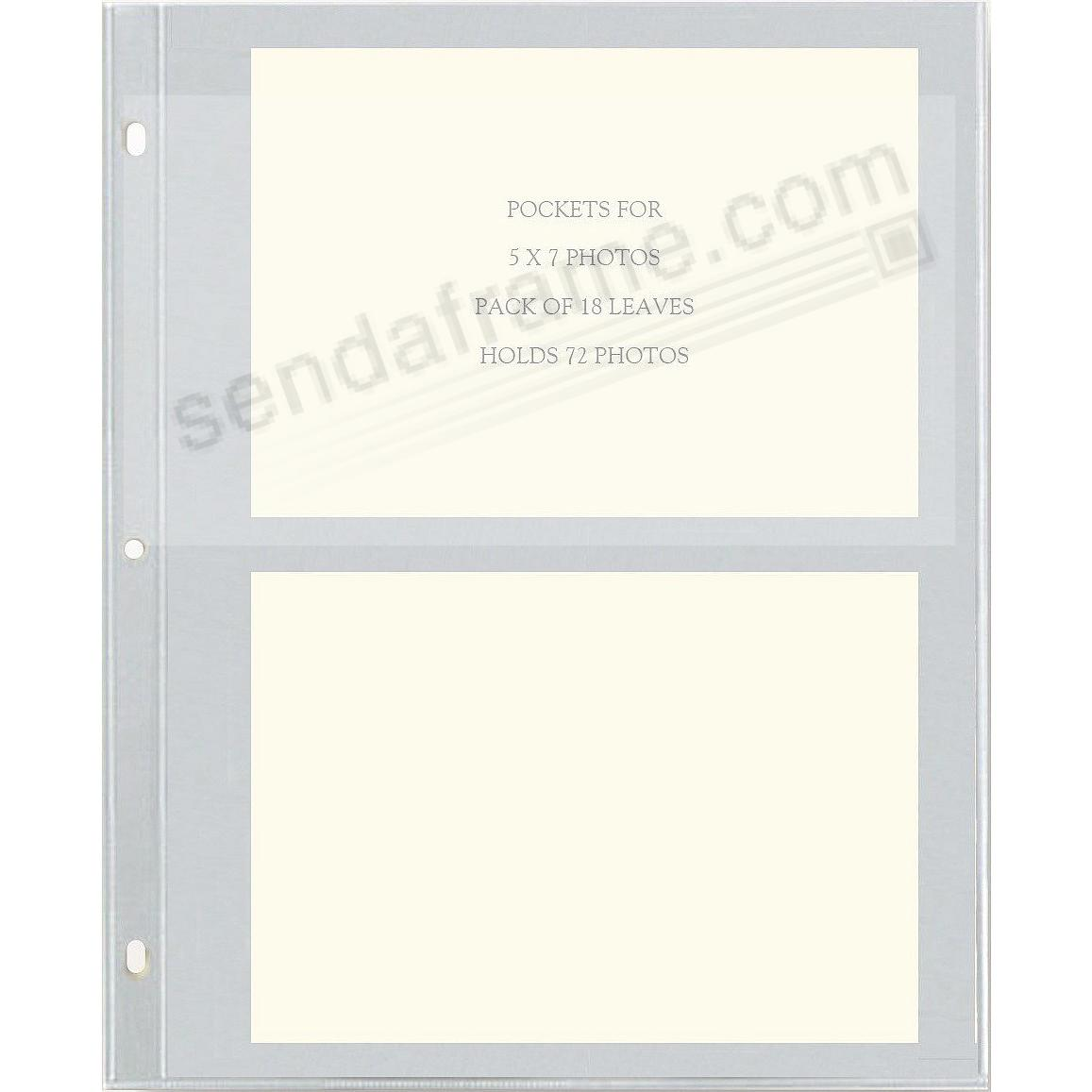 Genuine Post Impression Graphic Image Slip In 5x7 Pocket Refills