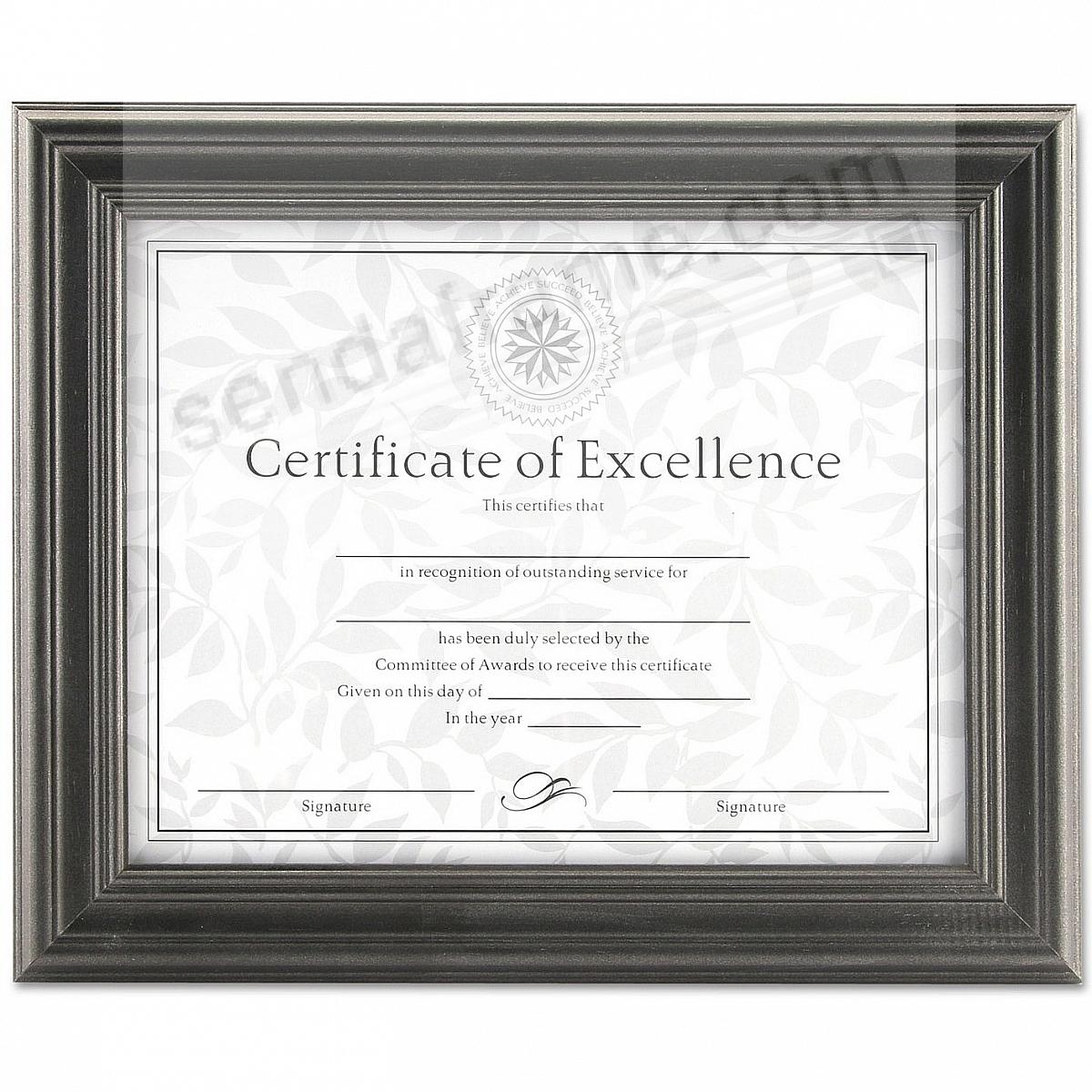 Pewter 11x8 Certificate Document Frame By Dax Picture Frames
