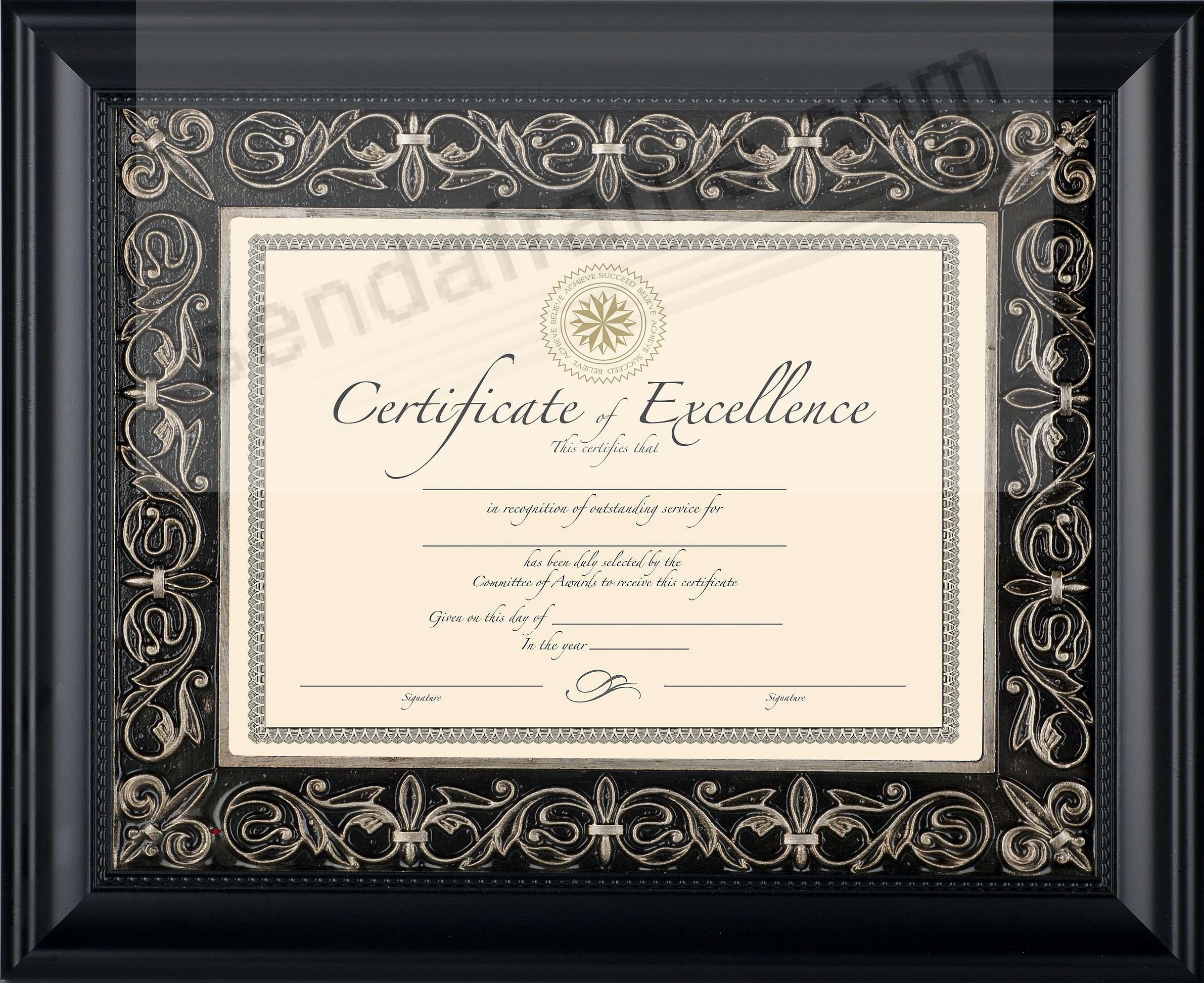 FLORENCE Black Matted 11x8½/14x11 Document Frame by DAX/Intercraft ...