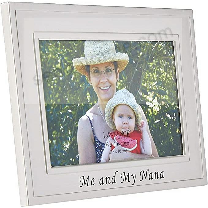 Lawrence Frames Me And My Nana Brushed Silver 6x4 Frame Picture
