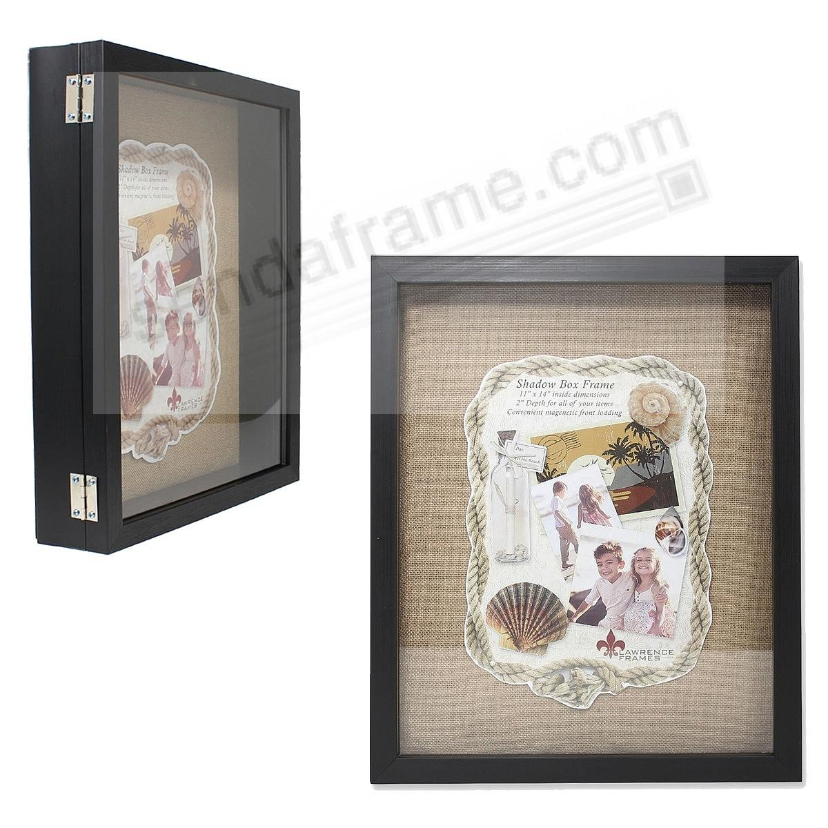 Black 2-in Depth Shadowbox w/magnetic lock front-opening 11x14 by ...