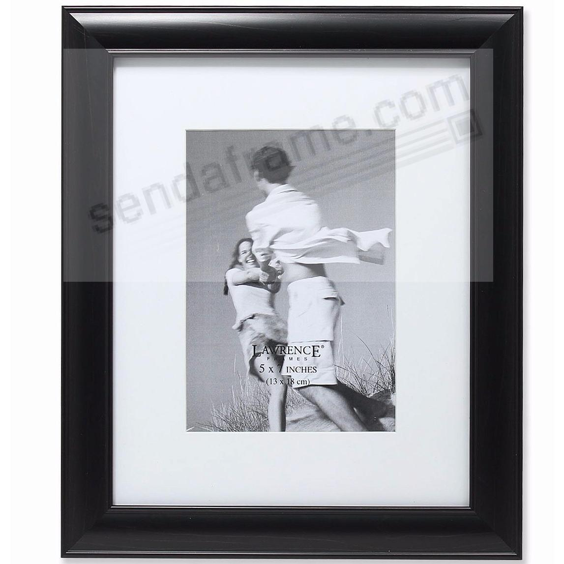 Ebony-Black wood and mat 8x10/5x7 frame by Lawrence® - Picture ...