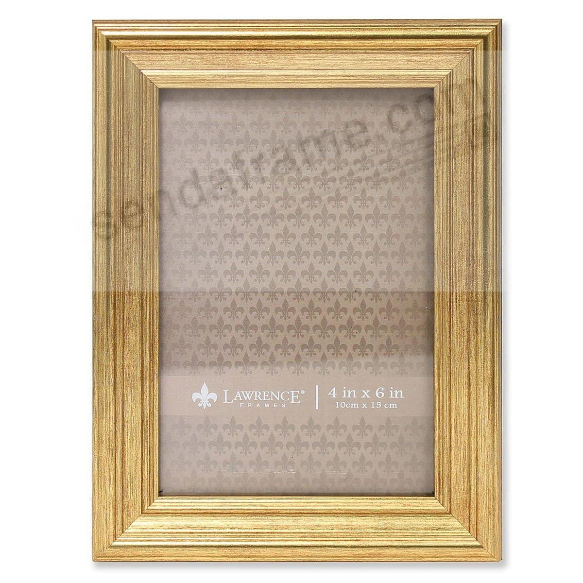 Sutter Burnished Gold Composite Wood 4x6 Frame By Lawrence