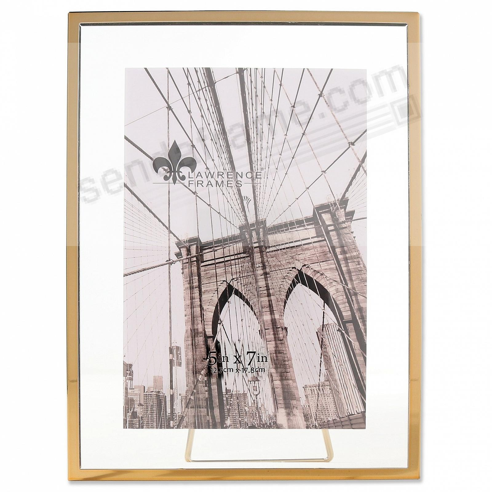 GARETT GOLD Metal Float 5x7 Frame by Lawrence® - Picture Frames ...