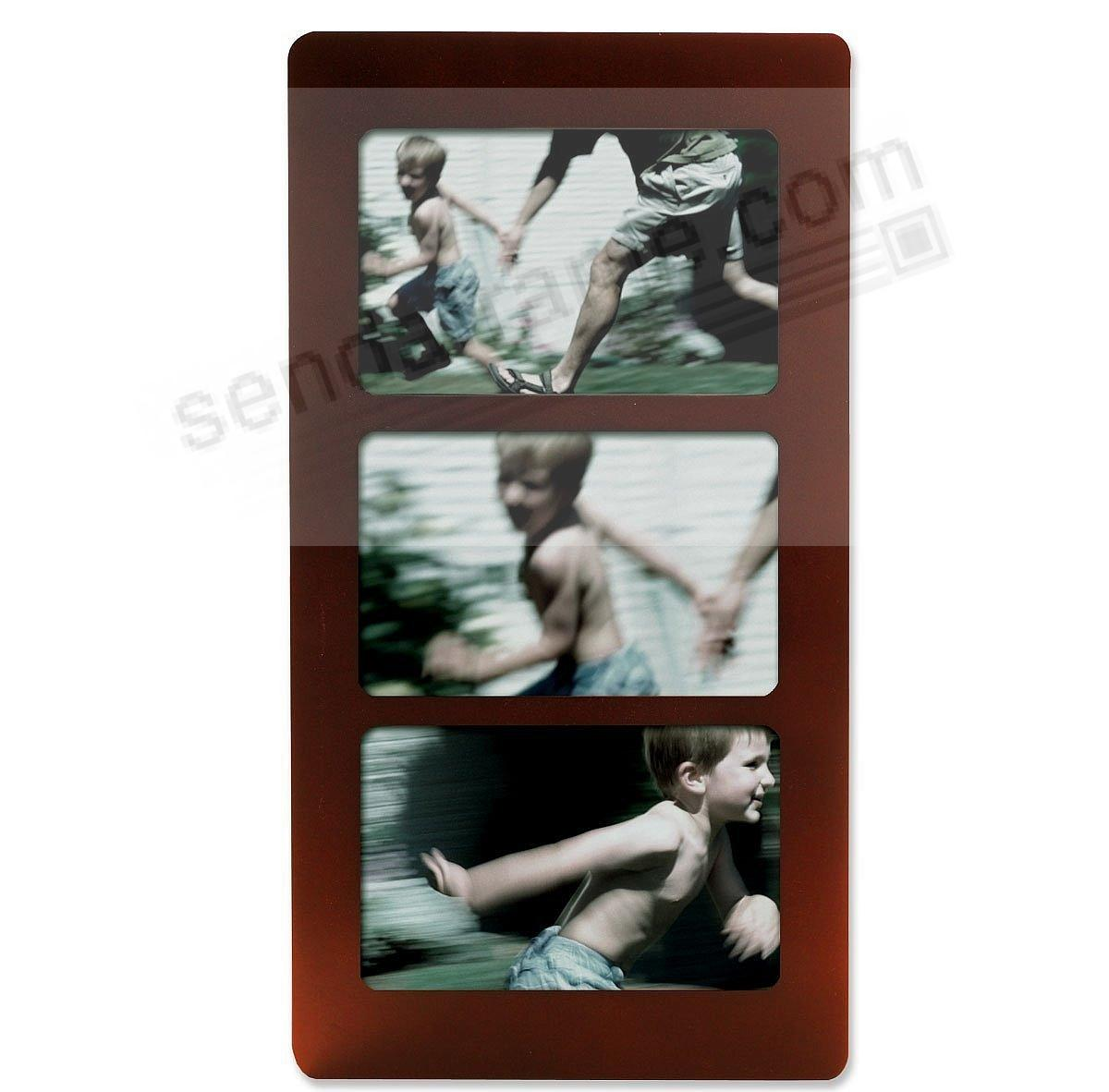 Rosewood triple collage by lawrence framesr picture for Engraved digital photo frame