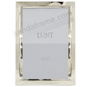 Beveled Fine 925 Sterling Silver 5x7 Frame By Lunt Picture
