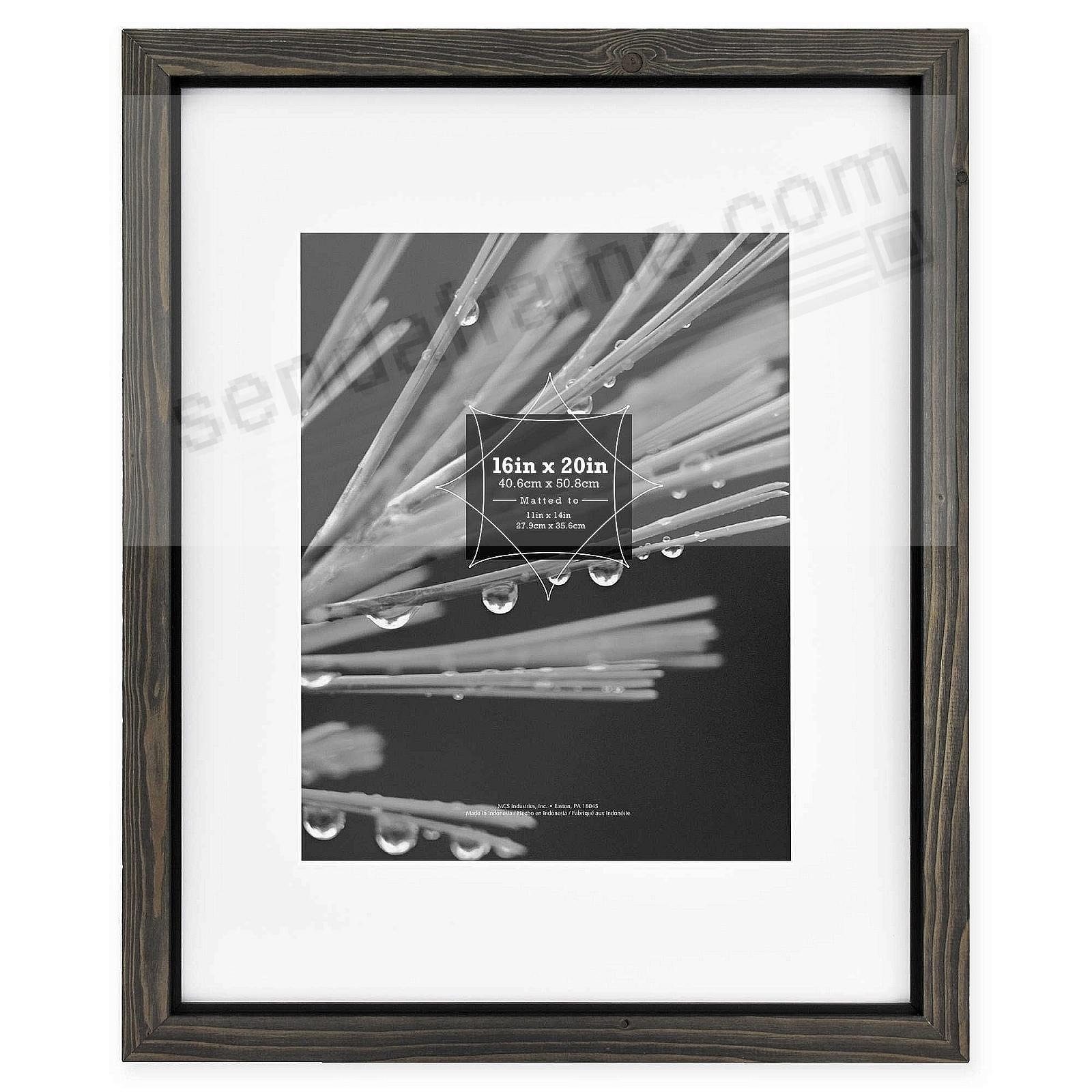 Timber Distressed Grayblack Wood 16x2011x14 Matted Frame By Mcs