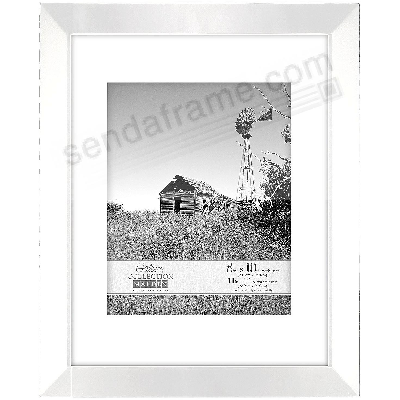 White BERKLEY matted 11x14/8x10 frame by Malden Design® - Picture ...