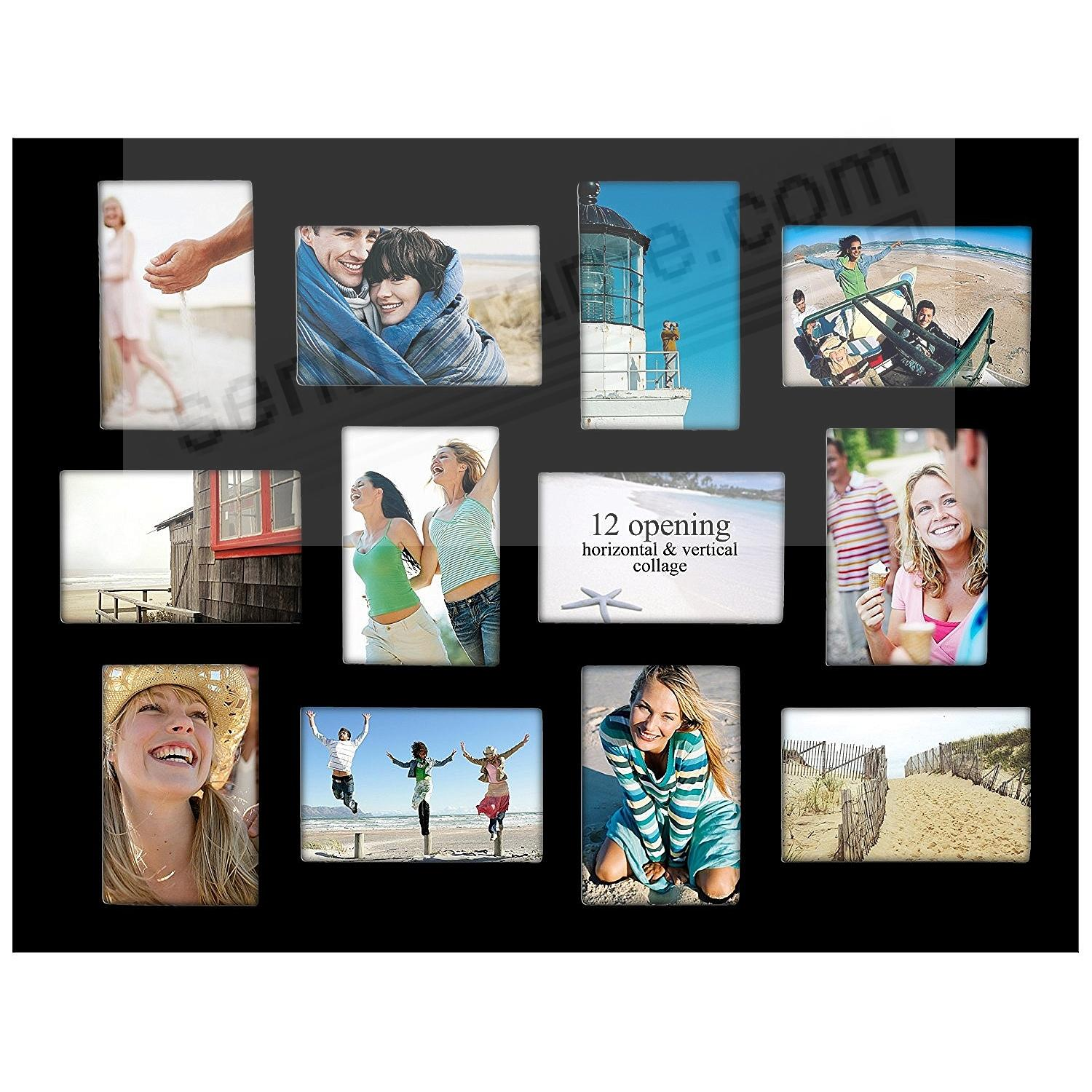Black Collage Displays 12 4x6 Photos By Malden 174 Picture Frames Photo Albums Personalized