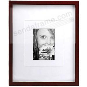 Walnut Brown Frame With Coordinated Multi Layer Mat For 5x7 8x10