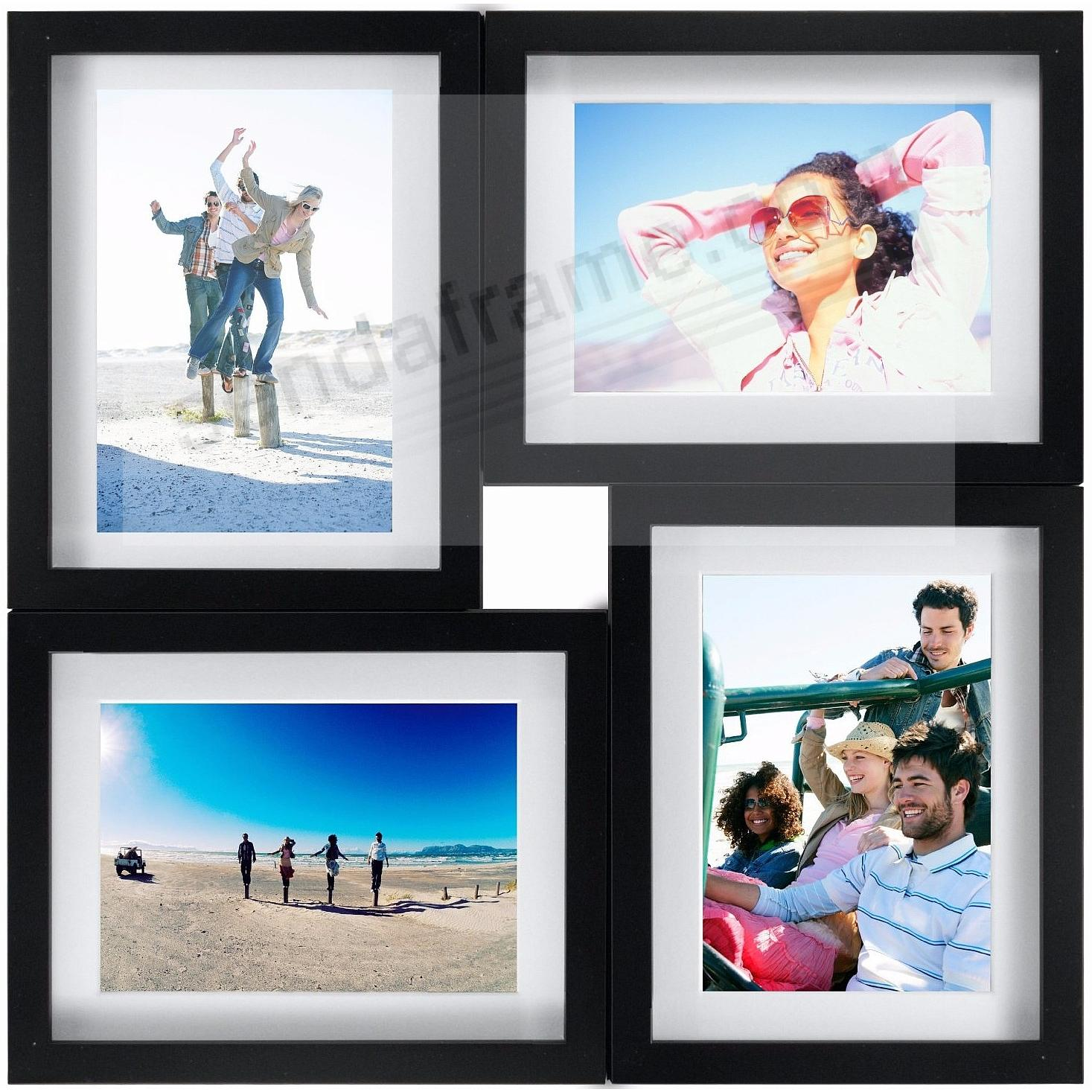 Black 4-opening PUZZLE collage frame for 8x10/5x7 prints by Malden ...
