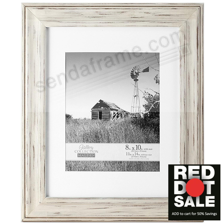 WHITMAN WHITE WASH matted 11x14/8x10 frame by Malden Design ...