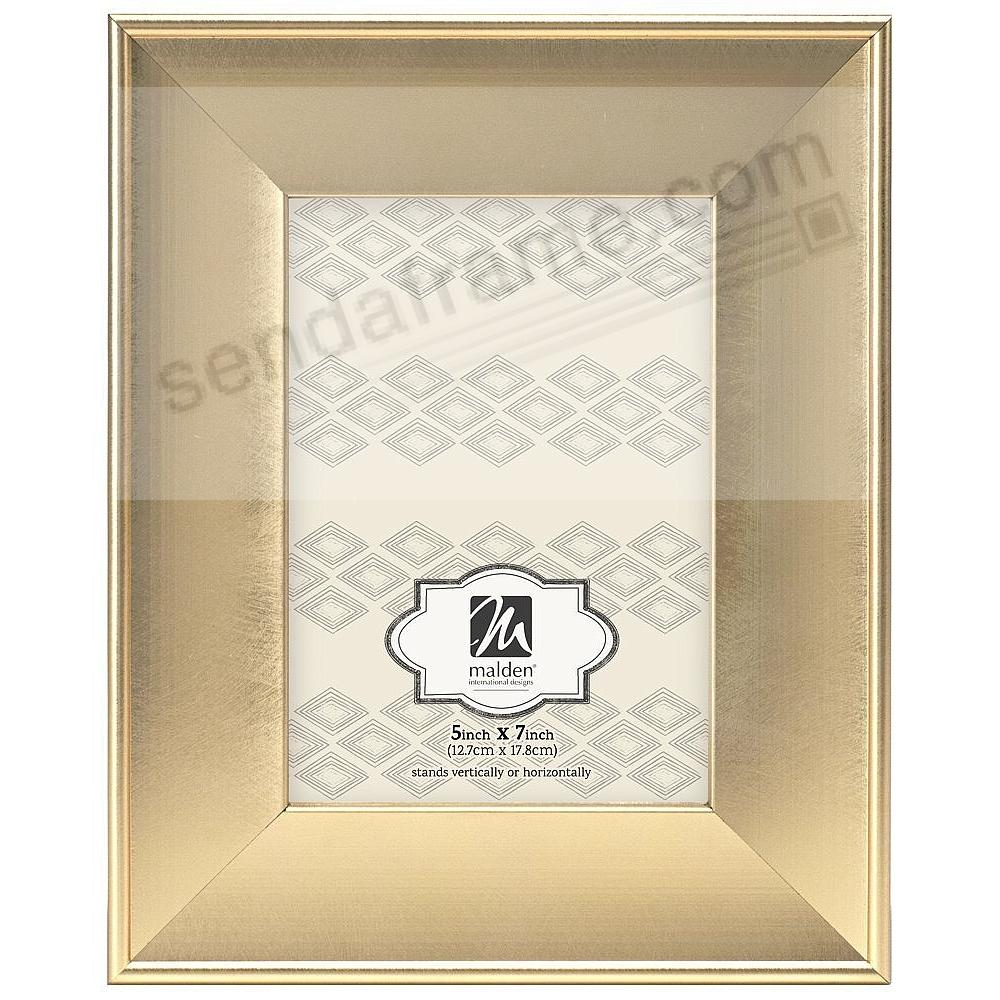 COLLINS Brushed Gold Scoop 5x7 by Malden® - Picture Frames, Photo ...