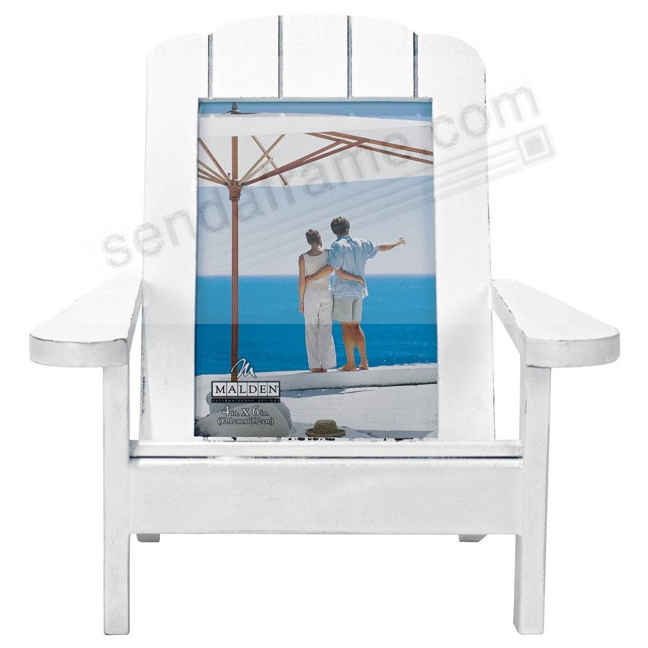 ADIRONDACK CHAIR White 4x6 Frame In Natural Wood By Malden