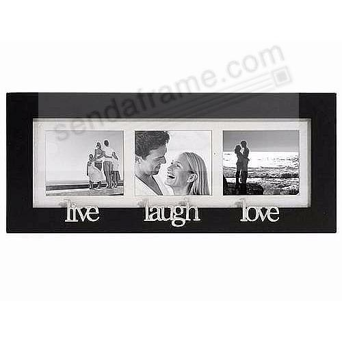 live - laugh - love special black trio wall collage frame - Picture ...
