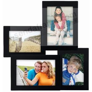 black 4 opening wood collage frame by malden picture frames