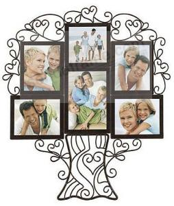 Decorative Ironworks Family Tree Collage Frame In Black By Malden